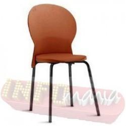 Cadeira Luna Frisokar preta polipropileno ocre