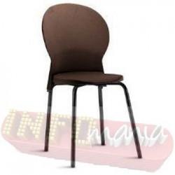 Cadeira Luna Frisokar preta polipropileno marrom