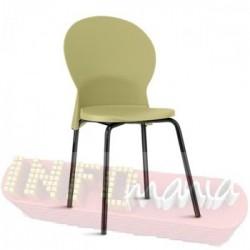 Cadeira Luna Frisokar preta polipropileno areia