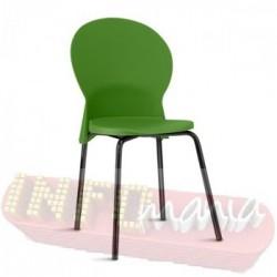 Cadeira Luna Frisokar preta polipropileno verde