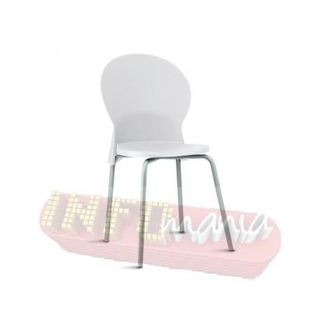 Cadeira Luna Frisokar cinza polipropileno branco