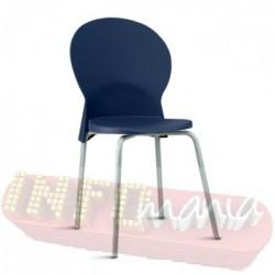 Cadeira Luna Frisokar cinza polipropileno azul