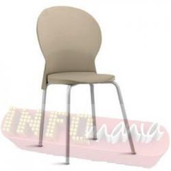 Cadeira Luna Frisokar cinza polipropileno areia