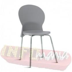 Cadeira Luna Frisokar cinza polipropileno cinza
