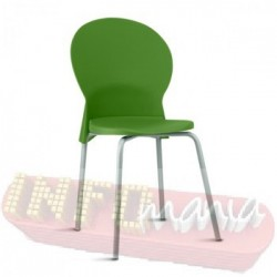 Cadeira Luna Frisokar cinza polipropileno verde