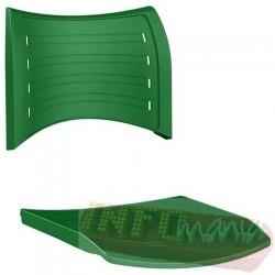 Conjunto de assento e encosto ISO verde bandeira