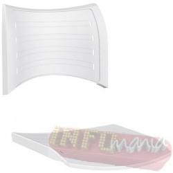 Conjunto assento e encosto ISO polipropileno branco