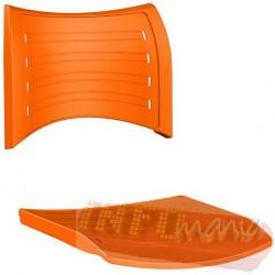 Conjunto assento encosto ISO polipropileno laranja