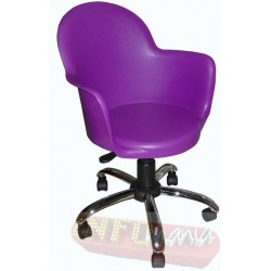Cadeira Boston púrpura giratória cromada