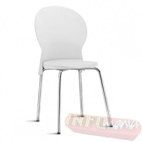 Cadeira Luna Frisokar cromada branca