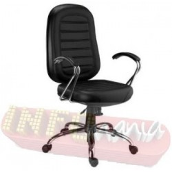 Poltronas Chrome Presidente cromada costuras decorativas