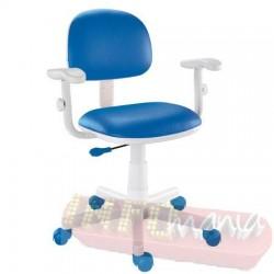 Cadeira azul giratória Kids digitador
