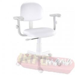 Cadeira branca giratória Kids digitador