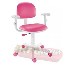 Cadeira pink giratória com braços