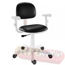 Cadeira preta giratória Kids digitador