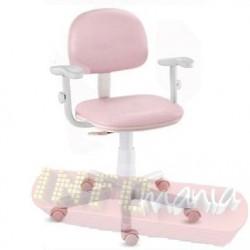 Cadeira rosa bebê giratória com braços