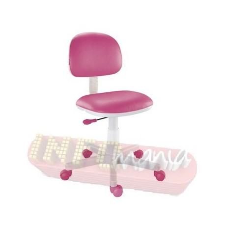 Cadeira pink Kids giratória base branca