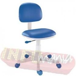 Cadeira azul giratória kids