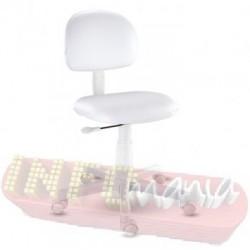 Cadeira branca giratória kids