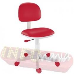 Cadeira vermelha giratória Kids