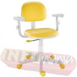 Cadeira amarela giratória Kids digitador