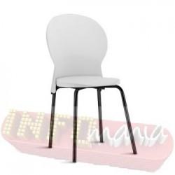Cadeira Luna Frisokar preta polipropileno branco
