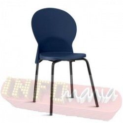 Cadeira Luna Frisokar preta polipropileno azul
