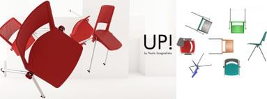 Cadeiras Up Frisokar para escritórios